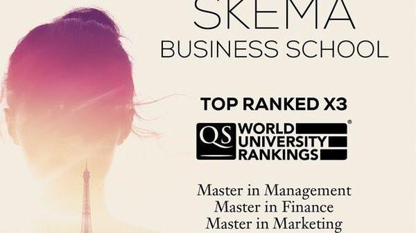 QS发布2020全球商科硕士排名,全球化商学院SKEMA成绩亮眼