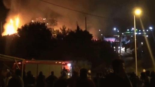 希腊难民营发生火灾 警方逮捕12名嫌疑人
