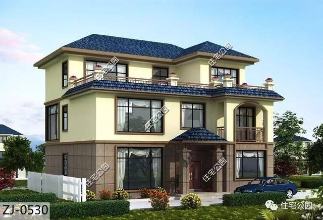 9套农村屋顶别墅,平顶坡顶哪种好?要我说最后那种别墅广州金地湖经典荔图片