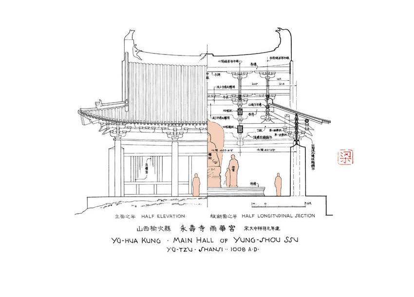 梁思成手绘建筑 线上展览