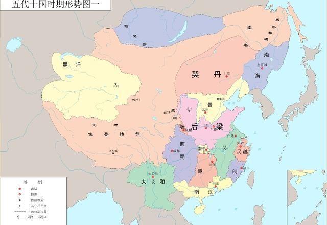 中国古代各朝形势图(五代十国-宋)图片
