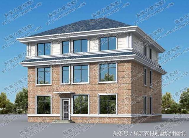 2套三层农村别墅,一个通透华丽,一个气势恢宏,你更喜欢哪套?