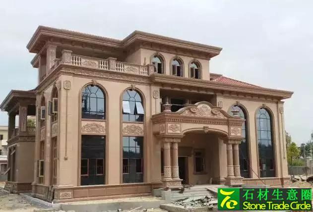 案例花岗岩红色别墅外墙别墅区上海大全图片