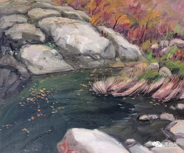 中国河南画家:张德宏风景油画写生作品欣赏