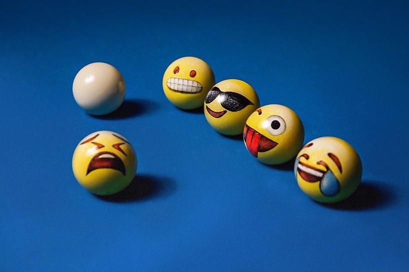 当emoji表情遇上台球,再也不能认真图片