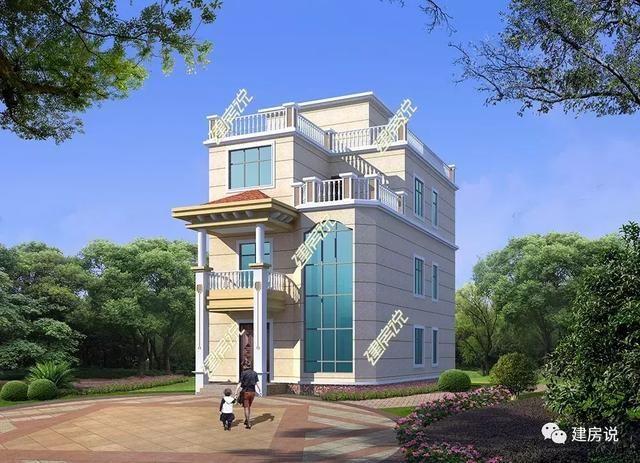8x15米简欧别墅,带地下室 多卧室 书房,屋顶花园简直不要太享受