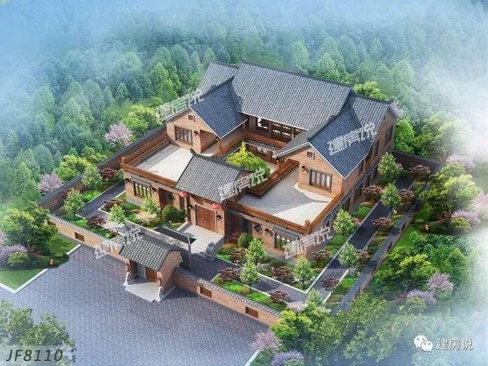 中式别墅1: 中式的别墅造型讲究左右对称,呈现四平八稳的格局,飞檐