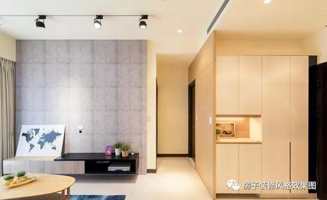 100平2室2厅,门口的玄关鞋柜和五层置物架,好看又实用