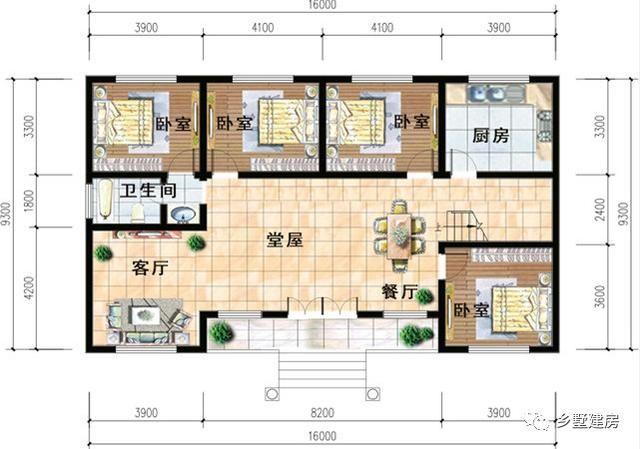 5x15米自建房设计图