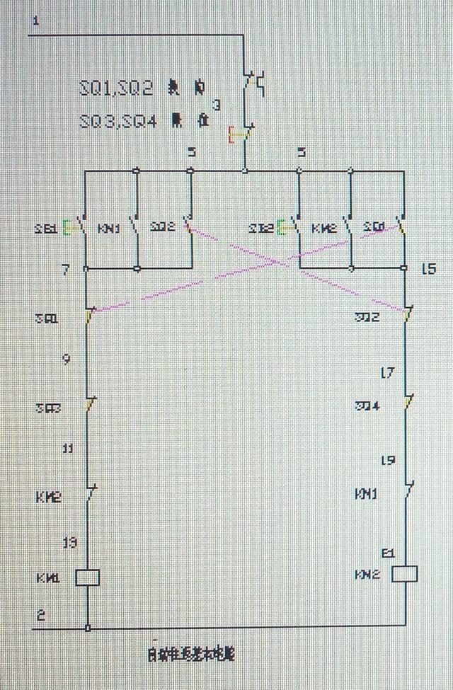 基本自动往返电气控制电路之缺陷