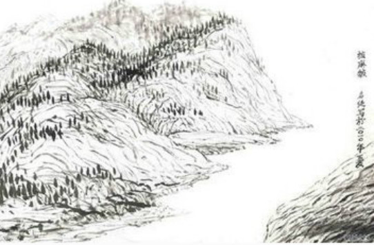 北京手绘黑白地图