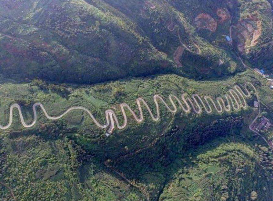 中国最弯的十条电气,来看看都分布在哪个省表示公路ol图纸图片