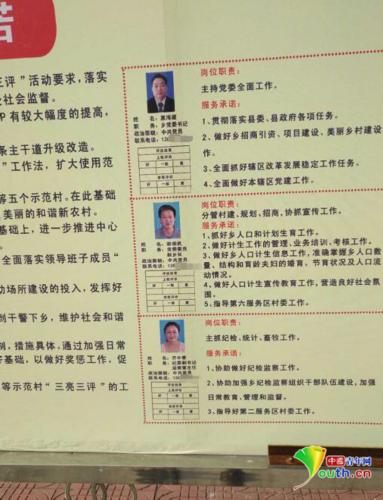 """唐河县昝岗乡""""三亮三评""""展板.采访对象供图"""