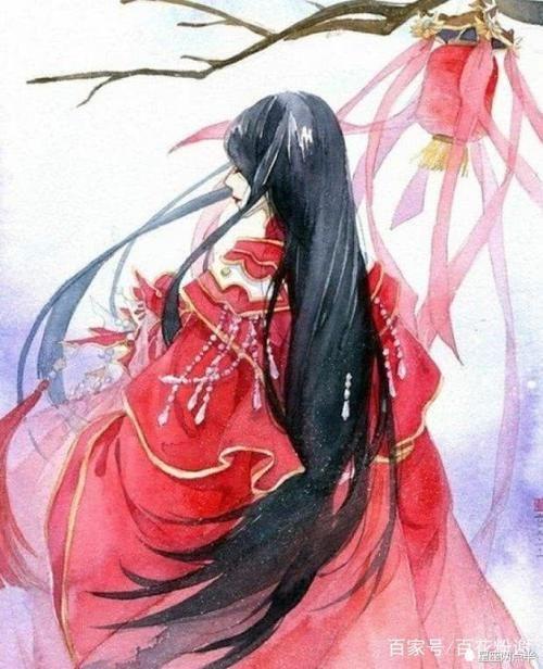 巨蟹座专属古风嫁衣,粉色的珠帘异常柔美落寞的背影难掩离别的悲伤.