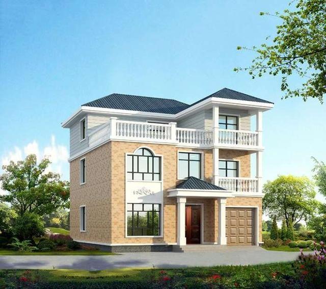 6米三层带车库别墅,美观实用接地气,建一栋村里