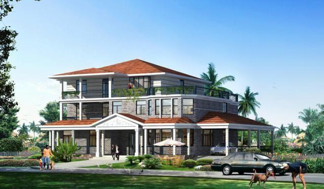 6套欧式别墅设计图纸 50万造价搞定400平三层洋房