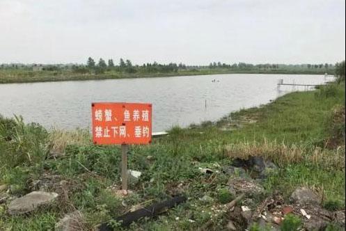江苏镇江保护区内违规建设的鱼塘。图片来源:生态环境部