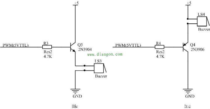 例:图一中a电路中三极管我们选择了2n3904三极管,2n3904是现在常用