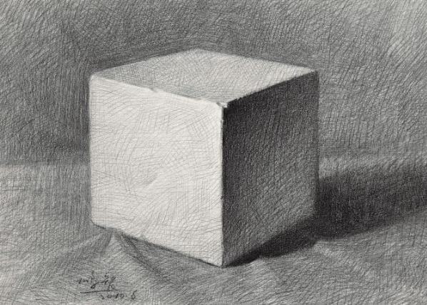 素描石膏像,石膏像正方体画法步骤是怎样的?