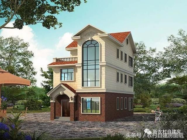面宽8米的经典宅基地打架,6款农村别墅图纸,让魔兽世界机器人图纸建房图片