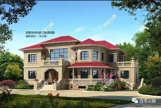 5套带堂屋高品质农村别墅,第1套最土豪,第2套40万建成