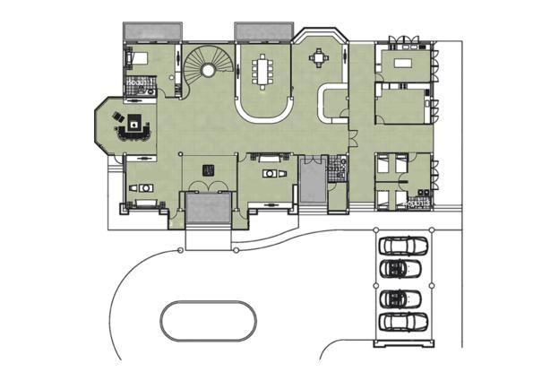 l型农村别墅,功能齐全6个卧室,比厢房好!图片
