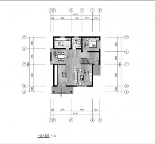 20万占地110平方米二层农村自建房设计图