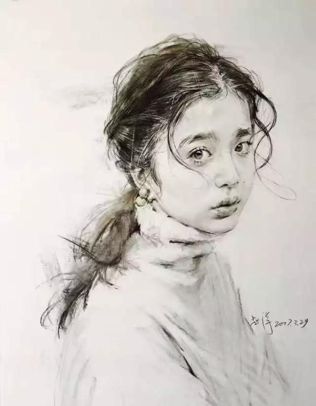 赵洋老师微博:左手持笔——赵洋 画《战狼2》主要演员 作品步骤画法