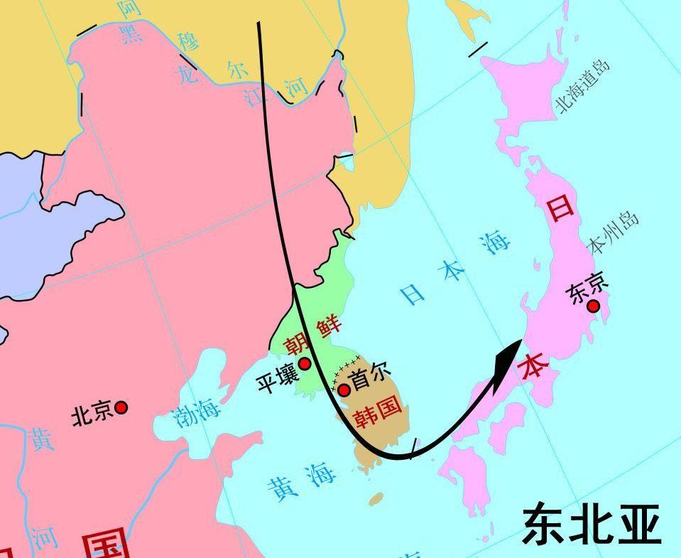 这是东北亚:东北亚最好记了:根据这条线来分别是:俄罗斯--中国东北图片