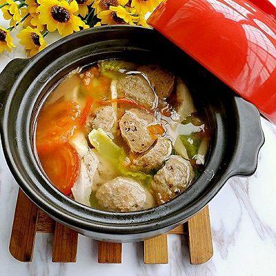 番茄丸子汤_西红柿蔬菜丸子汤