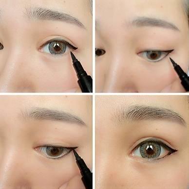 猫眼/上扬眼妆眼线画法步骤图 新手第五种眼线画法: 猫眼/上扬眼