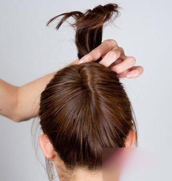 2款详细马尾辫盘头发的方法图解,优雅时尚!