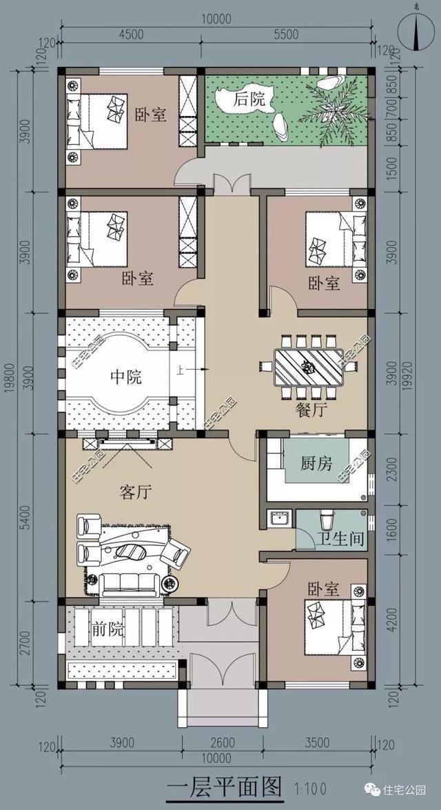 9套中式农村别墅,平房,庭院,别墅通通有,你最喜欢哪一