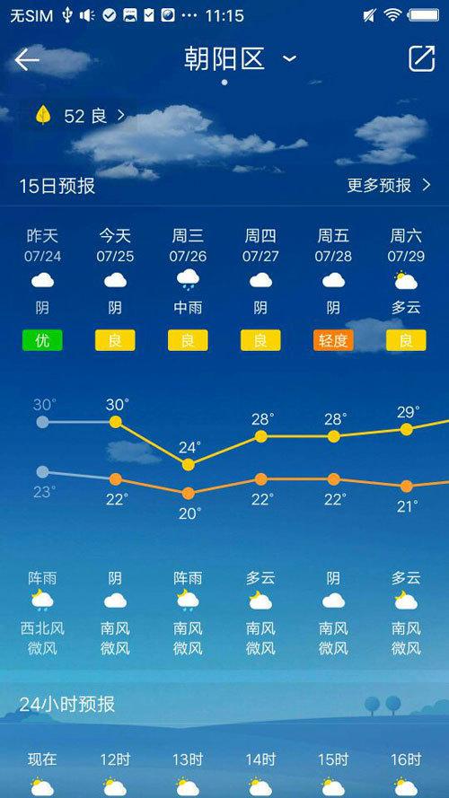 天气显示在手机桌面