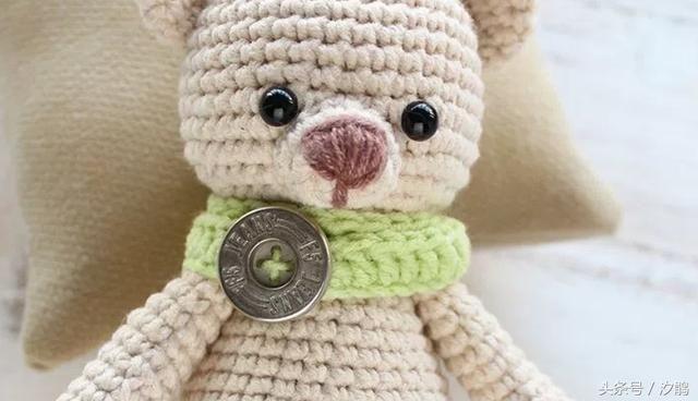手工钩针编织玩偶,可爱的小熊详细步骤图解