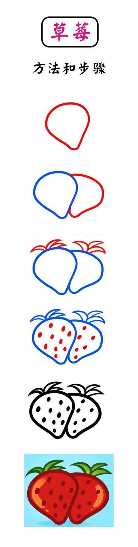 儿童简笔画:一步一步教您13种水果的画法