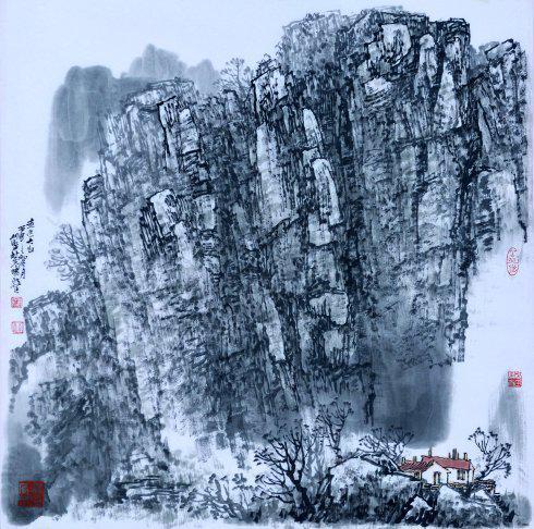 心系雪乡暧暖情--杜晓波北国风情山水画述评