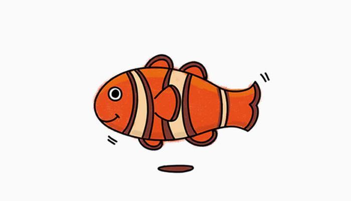 儿童简笔画之小丑鱼教学