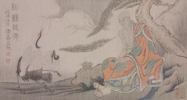 他在继承宋代人物绘画技法精髓的基础上,灵活运用线条的变化,色彩的变