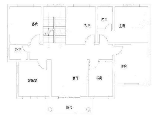 农村盖房子设计图,10米宽,15米长,怎么设计?图片