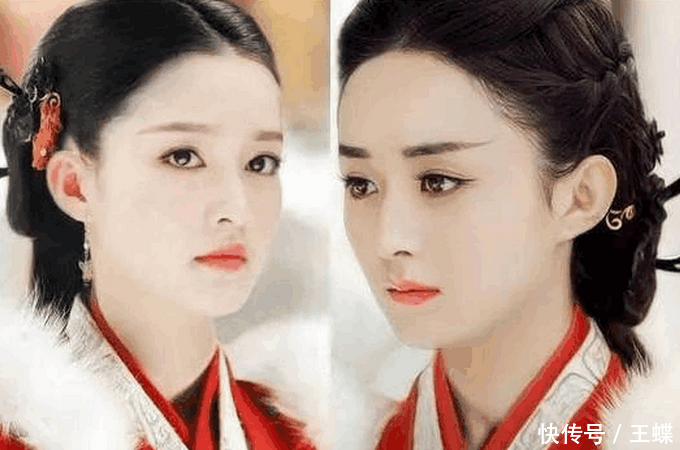 赵丽颖和李沁换上迪丽热巴在秦时明月丽人心里的造型,意外的觉得两个