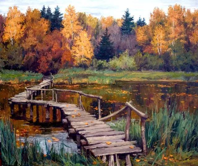 俄罗斯唯美浪漫主义风景油画欣赏