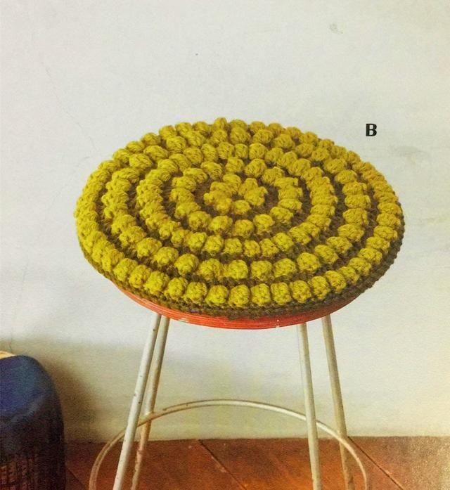 來一個爆米花針的蓬松圓形坐墊,詳細圖解和說明,來看吧圖片