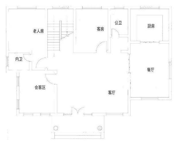 这款农村二层房屋设计图开间进深15.5×10.2米,一层占地面积154.
