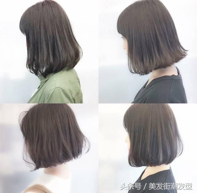 2018最流行的秋季女生齐脖烫发型图片图片