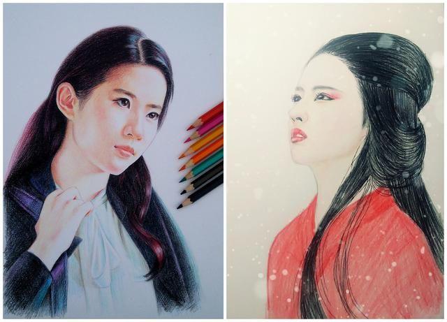 刘诗诗,杨幂,赵丽颖,郑爽等众多女神画像,你是描绘的那个她吗