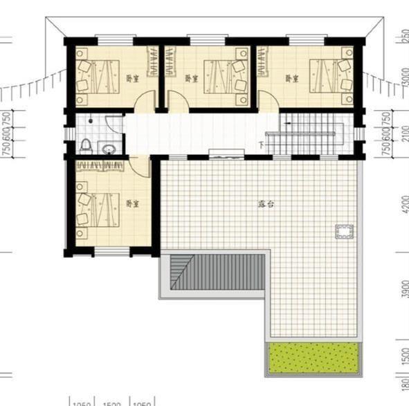 20萬帶庭院的農村房屋設計圖,5套方案,2款帶火炕含預算