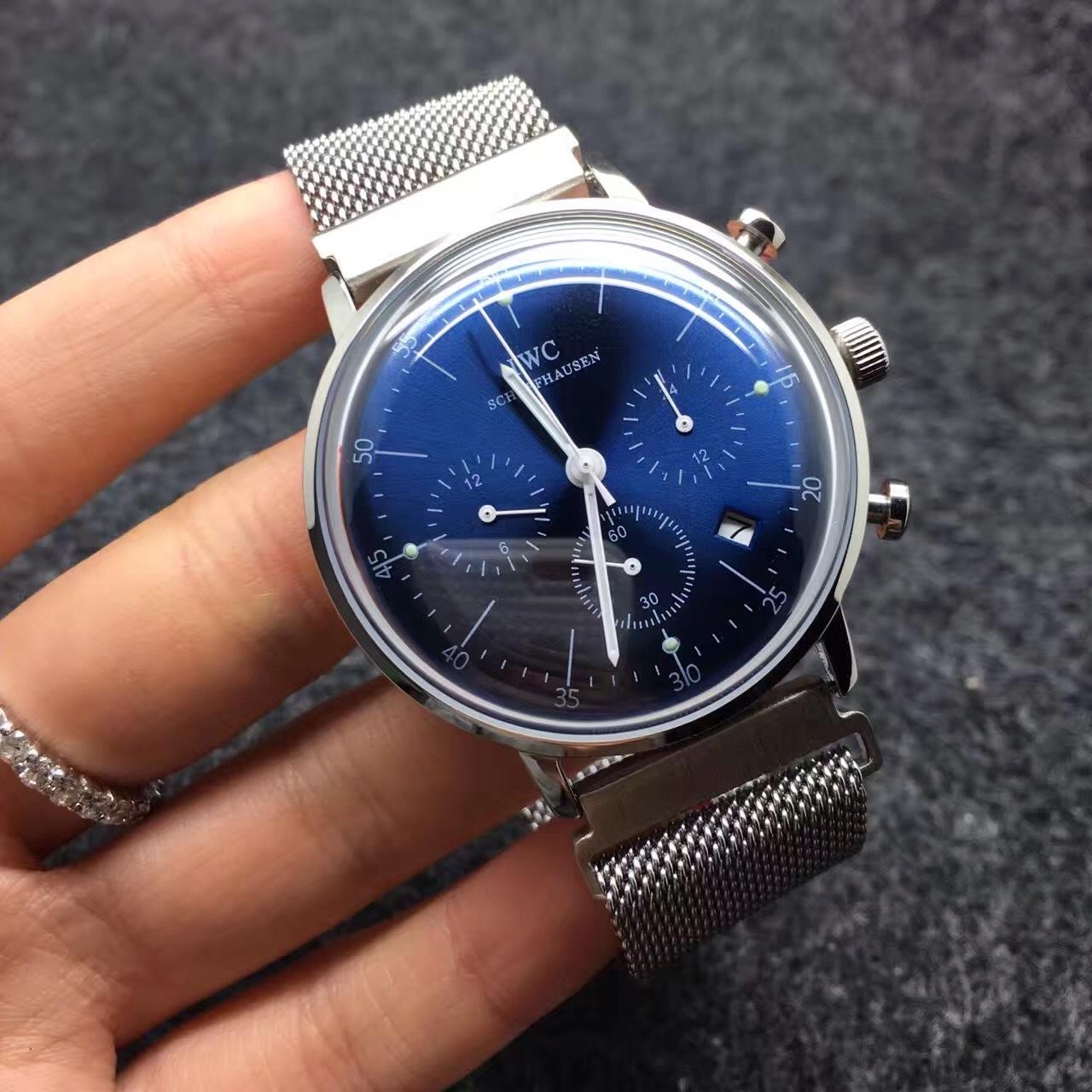 復刻iwc-萬國 多功能簡約大氣手表男士腕表圖片