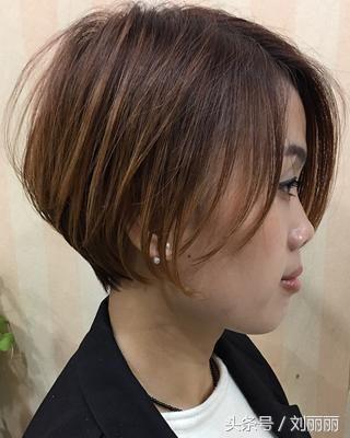 春节最修饰短发短发20款,美到逆天黑色头型无刘海不烫图片
