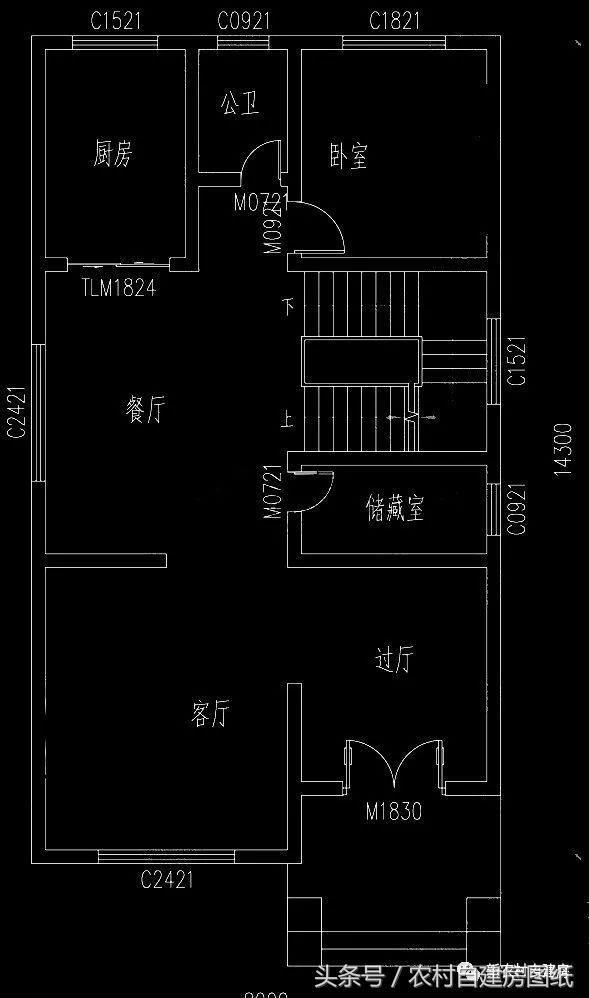 面宽8米的经典宅基地建房,6款图纸铣床别墅,让自制图纸农村图片